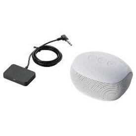 エレコム LBT-SPP20TVWH(ホワイト) Bluetoothモノラルスピーカー TV用送信機セット