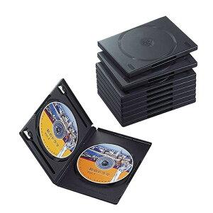 エレコム CCD-DVD06BK(ブラック) トールケース 2枚収納 10枚組
