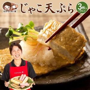 じゃこ天 じゃこ天ぷら 3枚入り×3袋セット [ 雑魚 ジャコ 天ぷら てんぷら ジャコテン おつまみ おかず お弁当 おでん 具材 練り物 練物 お試し 食品 お取り寄せ グルメ 安心の国内製造 クー