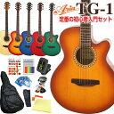 アコースティックギター 初心者 12点 セットARIA TG-1 カッタウェイタイプ アコギスタートセット 【アウトレット】 【アコギ 初心者】【送料無料】