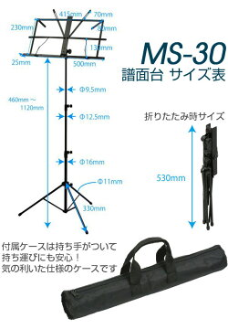 KIKUTANI譜面台MS-30キャリングバッグ付スチール製20本セット!【送料無料!】