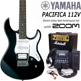 YAMAHA ヤマハ PACIFICA 112V/BL エレキギター マーシャルアンプ付 初心者セット16点 ZOOM G1Xon付き【エレキギター初心者】【送料無料】