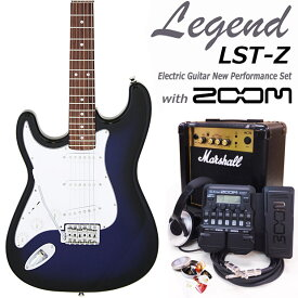 Legend レジェンド LST-Z LH/BBS 左利きエレキギター マーシャルアンプ付 初心者セット16点 ZOOM G1Xon付き【エレキギター初心者】【送料無料】