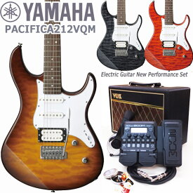 YAMAHA ヤマハ エレキギター PACIFICA212VQM VOXアンプ ZOOM G1XFour付き 初心者 入門 18点セット【エレキ ギター入門】