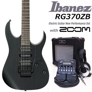 Ibanez アイバニーズ RG370ZB WK エレキギター 初心者セット18点 ZOOM G1Four付き