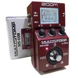 ZOOMズームMULTISTOMPMS-60Bベース用マルチエフェクター今なら3mケーブルとアダプターAD-16をプレゼント!【送料無料】