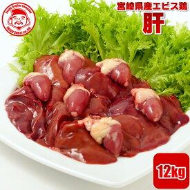 宮崎県産エビス鶏 肝[12kg]■生鮮品■ 【宮崎県産】【業務用】【メガ盛り】