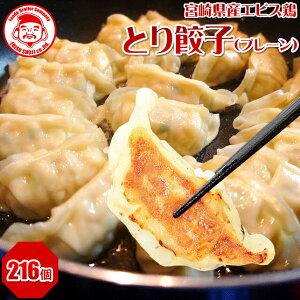 とり餃子(プレーン)[54個×4箱]■冷凍品■【国内製造】【エビス鶏100%使用】