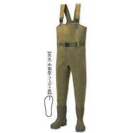 阪神素地 CW-455 チェストハイウェーダー[中割・フェルト底] 24cm