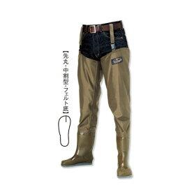 阪神素地 【SILVERFOX】 W-78 ヒップウェーダー[先丸・中割型・フェルト底] 26cm