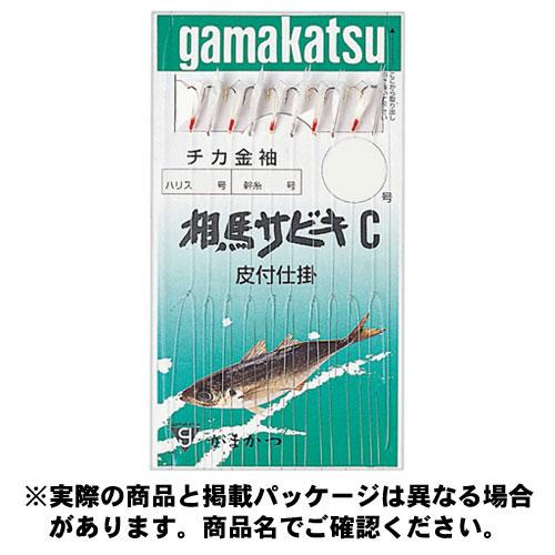 がまかつ 3H 相馬サビキ C型 13748 3号-ハリス0.8 チカ(白)金袖(金)10本(1組入) ハリ
