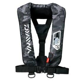 ダイワ DF-2007 ウォッシャブルライフジャケット(肩掛けタイプ手動・自動膨脹式) フリーサイズ ブラックカモ