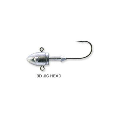 【メール便可】【コンビニ受取可】エコギア 3D JIG HEAD (スリーディージグヘッド) 3/4oz.(21g) 2pcs. 小物