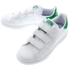 【16時まで即日発送】子供 アディダス adidas スニーカー スタンスミス CF C STAN SMITH CF C フットウェアホワイト/フットウェアホワイト/グリーン FX7534 【GOFG】