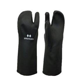 【メール便配送】SPRINGRNトリガーミトン スプリンゲン ポリウレタン製防寒防水手袋 一般用ブラック