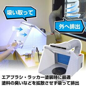 \楽天カードでポイント5倍/『送料無料』サンコー LEDライト付パワフルファン塗装ブース エアブラシ・ラッカーの換気対策 BRUSHBT4 模型 プラモ ジオラマ イラストの塗装に