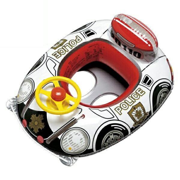 『送料無料』ハンドル付ベビーボート 座付ウキワ 男の子用 スーパーパトカー イガラシ MHR-460 浮き輪 フロート ボート かわいい おしゃれ インスタ 海 川 プール レジャー