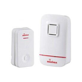 『送料無料』OHM ワイヤレス コールチャイムセット 押しボタン送信機(瞬間発電式)+受信機(電池式) monban 08-0521 OCH-EC80 ドア 介護・玄関の呼び出し・受付や店内の呼び出しに 玄関 無線 チャイム 無線