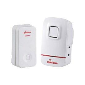 『送料無料』OHM ワイヤレス コールチャイムセット 押しボタン送信機(瞬間発電式)+受信機(AC式) monban 08-0520 OCH-ECL80 ドア 介護・玄関の呼び出し・受付や店内の呼び出しに 玄関 無線 チャイム 無線
