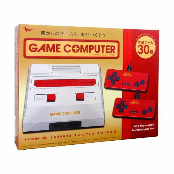 『送料無料』ゲームコンピューターFC CLASSICAL 3rd レッド ファミコン互換機 30ゲーム内蔵 AH9975AA-RD USB電源 モバイルバッテリー対応 小型 軽量 コンパクト