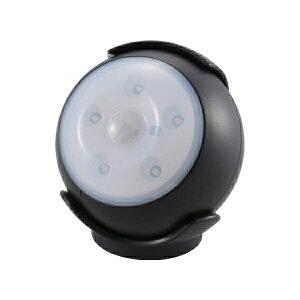 『送料無料』OHM LEDセンサーライト ブラック 屋内用 明暗+人感センサー付ライト 06-1631 LS-B15-K 防犯 セキュリティ ライト LED 電池式
