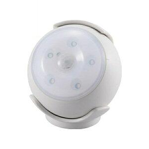 『送料無料』OHM LEDセンサーライト ホワイト 屋内用 明暗+人感センサー付ライト 06-1630 LS-B15-W 防犯 セキュリティ ライト LED 電池式