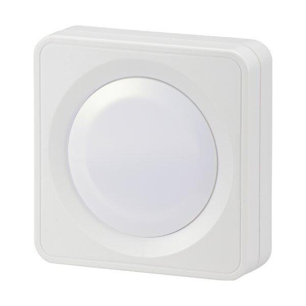 『メール便送料無料』OHM LEDプッシュライト 電池式 ナイトライト・クローゼット・ベッドサイド 06-0136 NIT-BLA6PH-WN