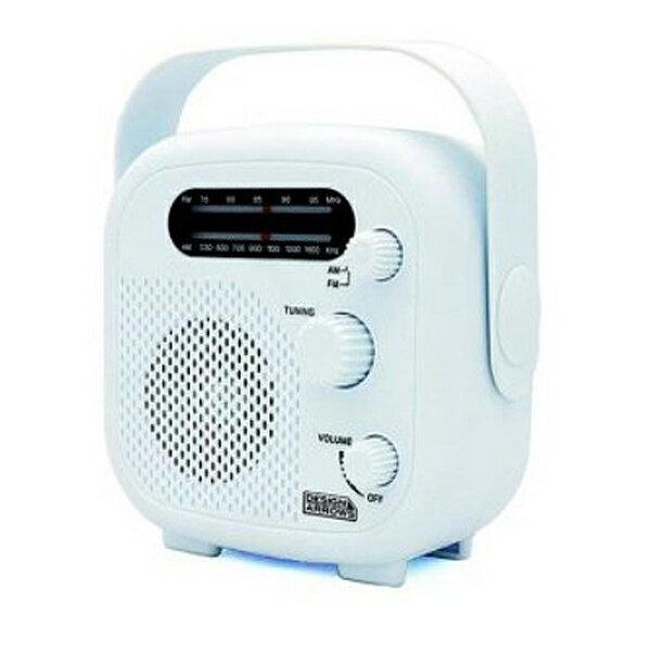 \楽天カードでポイント5倍/【送料無料】ヤザワ シャワーラジオ ホワイト FM/AM 防水ラジオ IPX5 SHR02WH