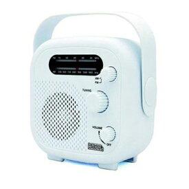 \楽天カードポイント5倍/【送料無料】ヤザワ シャワーラジオ ホワイト FM/AM 防水ラジオ IPX5 SHR02WH