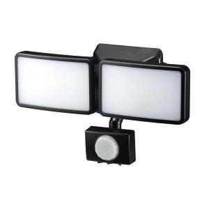 『送料無料』ヤザワ LEDセンサーライト ソーラー式 防雨・調光タイプ 3W×2灯 リモコン付 SLR3LES2 センサーライト 屋外 ソーラー 人感 LED