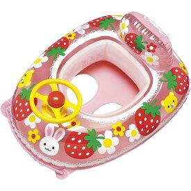 『送料無料』ベビーボート ハンドル付 座付浮輪 どうぶついちご 75×60cm イガラシ MHU-360 赤ちゃん 幼児用 浮き輪 プール 海 川 水遊びに 1.5歳以上