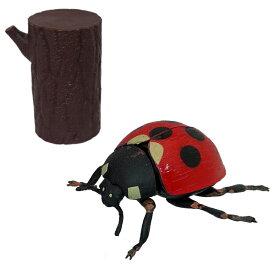 昆虫パズルフィギュア テントウムシ リアル昆虫フィギュア 組立 立体パズル エール YPF-INSECT-TET 昆虫 パズル おもちゃ 知育玩具