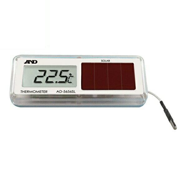 エントリー&楽天カードでポイント10倍!『メール便送料無料』エー・アンド・デイ ソーラー式 組込み型温度計 防滴型 IP67相当 AD-5656SL 測定 計測器具 A&D