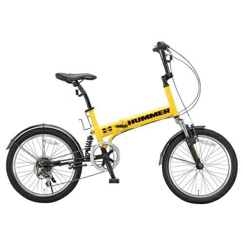ハマー FDB206 W-sus 20インチ 6段変速 折畳自転車 イエロー
