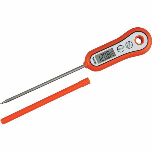 タニタ デジタル温度計 料理用スティック温度計 TT-533-OR(オレンジ)