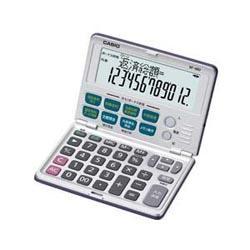 カシオ(CASIO) 金融電卓 12桁 BF-480 大型液晶モデル/折りたたみ手帳タイプ