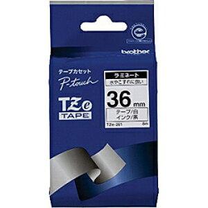 ピータッチ ラミネートテープ 白ラベル TZe-261 [黒文字 36mm×8m]