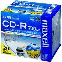 マクセル CDR700S.WP.S1P20S データ用 CD-R 700MB 1回記録 プリンタブル 48倍速 20枚