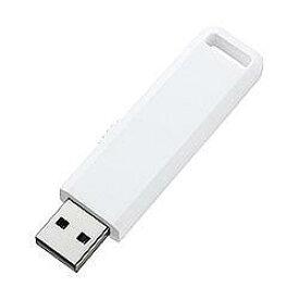 サンワサプライ UFD-SL1GWN(ホワイト) USB2.0接続 USBメモリ 1GB