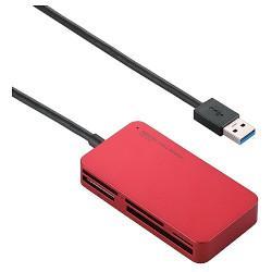 エレコム MR3-A006RD(レッド) メモリリーダライタ USB3.0対応