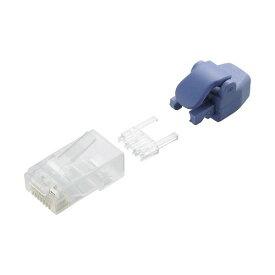 エレコム LD-6RJ45T10/TP 付きツメの折れないLANコネクタ Cat6 保護カバー 10個入
