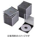 エレコム CCD-JSCN30BK(ブラック) Blu-ray/DVD/CDケース 標準 PS 1枚収納