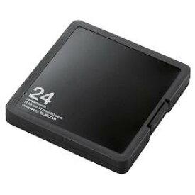 エレコム CMC-SDCPP24BK(ブラック) SD/microSDカードケース プラスチックタイプ