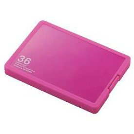 エレコム CMC-SDCPP36PN(ピンク) SD/microSDカードケース プラスチックタイプ