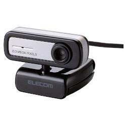 エレコム UCAM-C0220FBNBK(ブラック) 200万画素Webカメラ 内蔵マイクタイプ