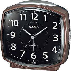 CASIO TQ-740J-5JF(ブラウン) 電波目覚まし時計
