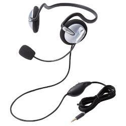 エレコム HS-NB05TSV(シルバー) ヘッドセット 4極両耳ネックバンド