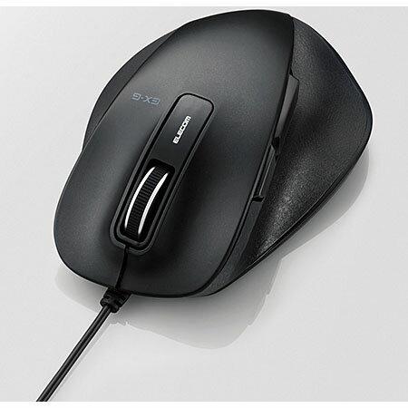 エレコム M-XGM10UBBK(ブラック) USB 光学センサー方式マウス 5ボタン
