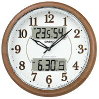 CASIOITM-900FLJ-5JF(濃茶木調)_電波掛け時計