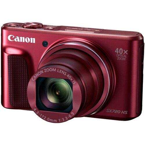 キヤノン CANON 光学40倍ズーム W-Fi対応 コンパクトデジカメ PowerShot SX720 HS(レッド)